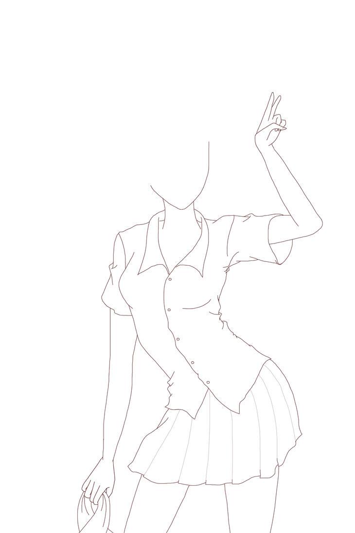 Ilmu Pengetahuan 10: Anime Girl Body Base Sitting