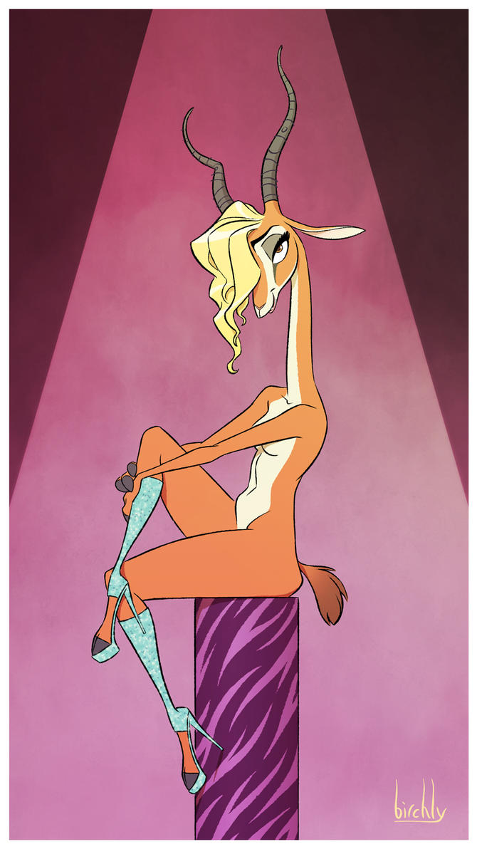 Gazelle Pinup by artbirchly