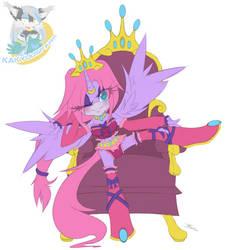 Sitting Pretty On Her Throne