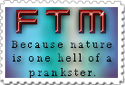 Nature's Prank FTM stamp