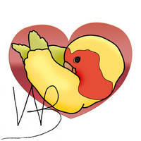 Love Bird Heart by CatalystSpark