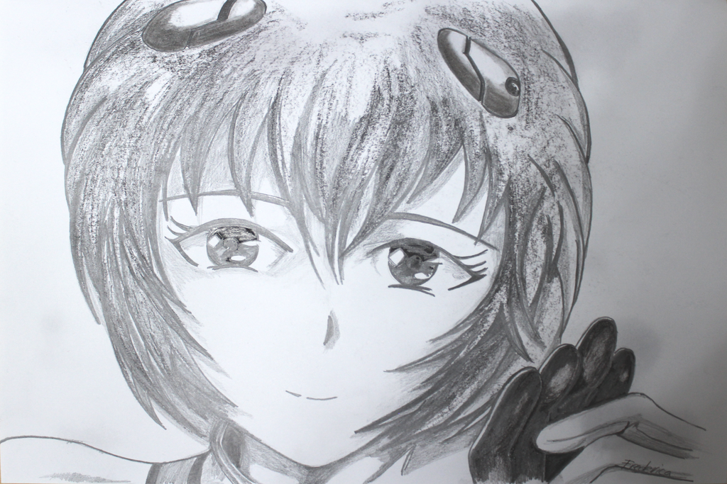 Rei Ayanami - Charcoal Drawing [By Frederica] by Yersinia88