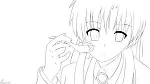 LineArt - Kanade from Angel Beats!