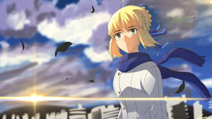 Digital Drawing - Saber in the wind   FATE/ZERO