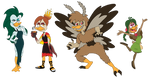 My Weird Elemental Duck Girls by CrazyNutBob