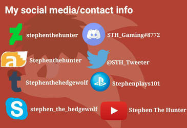 My Social media/PSN  by stephenthehunter