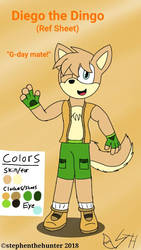 Diego the Dingo (Official Ref Sheet) by stephenthehunter