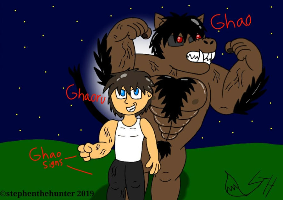 Ghaoru and Ghao (Art Trade) by stephenthehunter