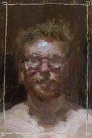 Self Portrait 2012 Summer 2 by Adam-Nowak