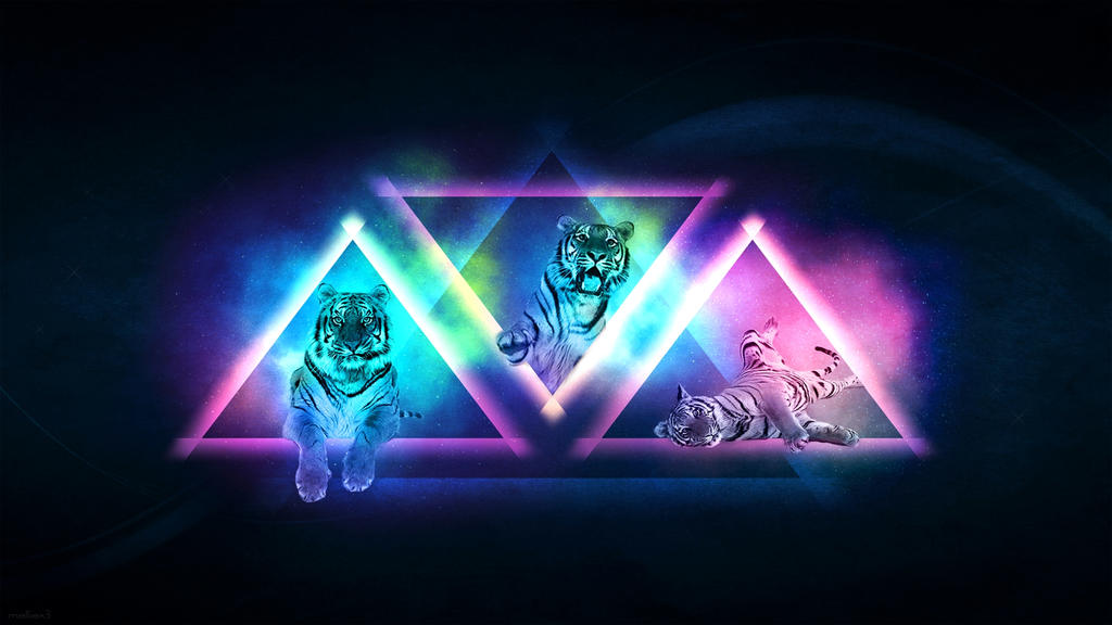 Colorful Tiger - Wallpaper by melliiex3 on DeviantArt