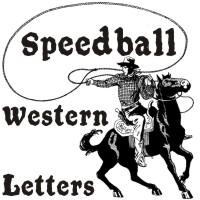 Speedball Western Letters by paulow