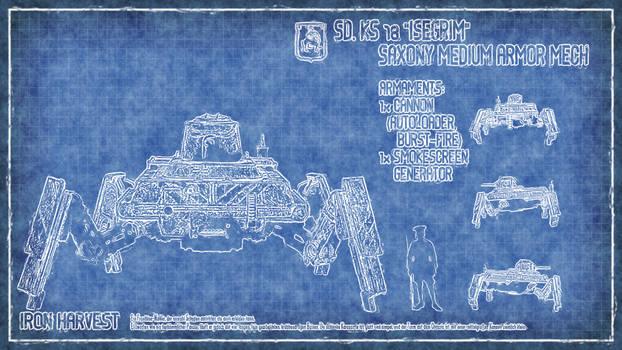 Iron Harvest: SD. KS 78 Isegrim Blueprint