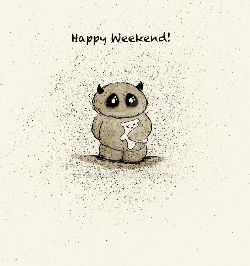 Happy Weekend Illustration by JSSanner