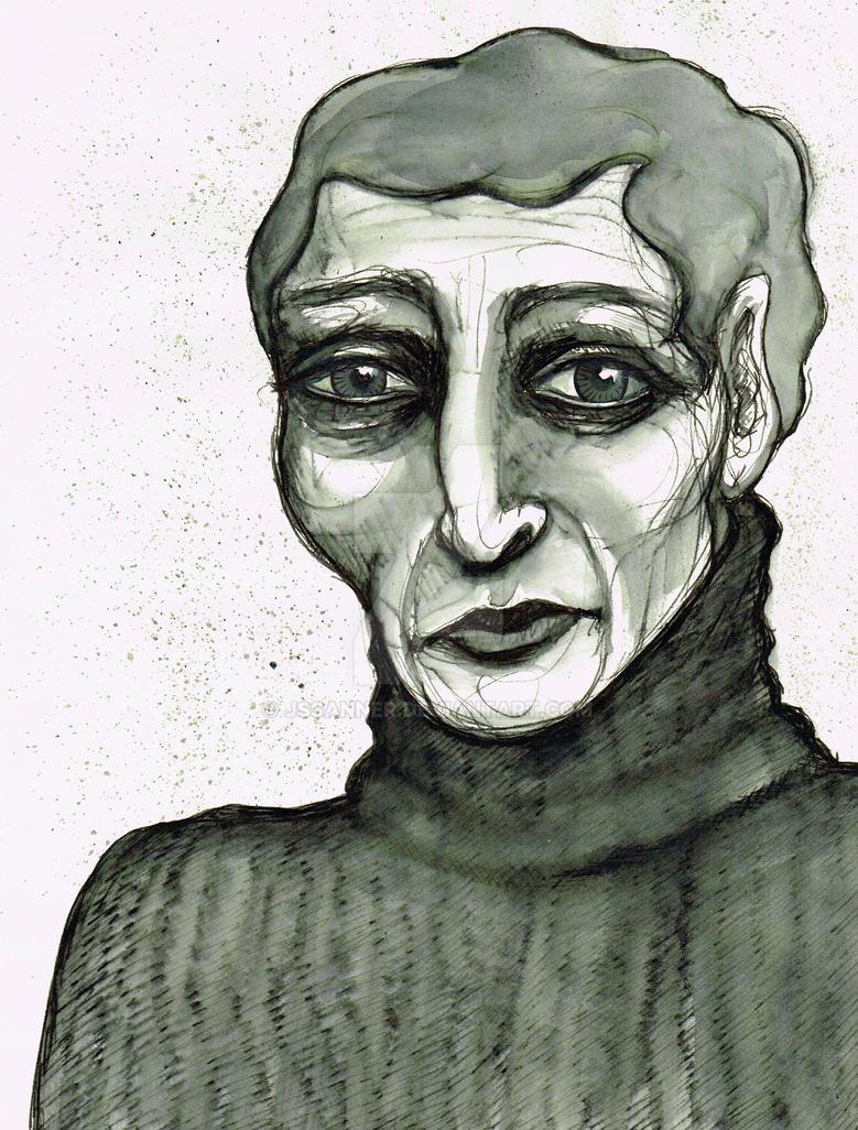 Old Lady Illustration by JSSanner