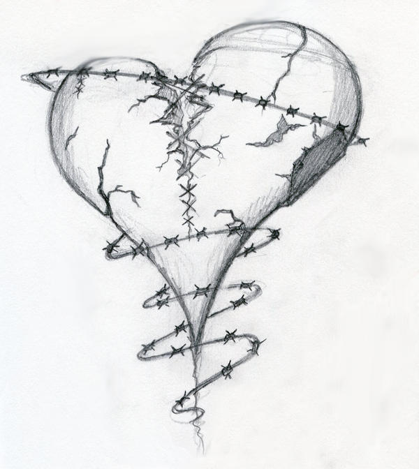 Broken Heart Tattoo Design. Broken Heart by ~Dravek on