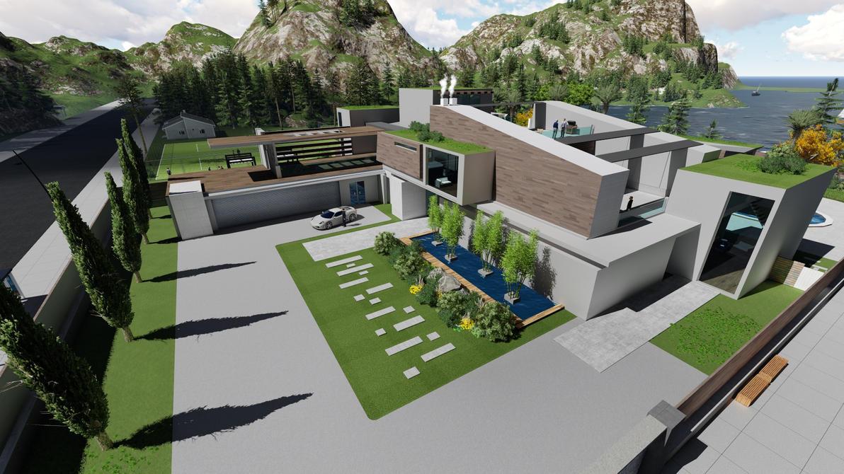 Company mansion project by gofik