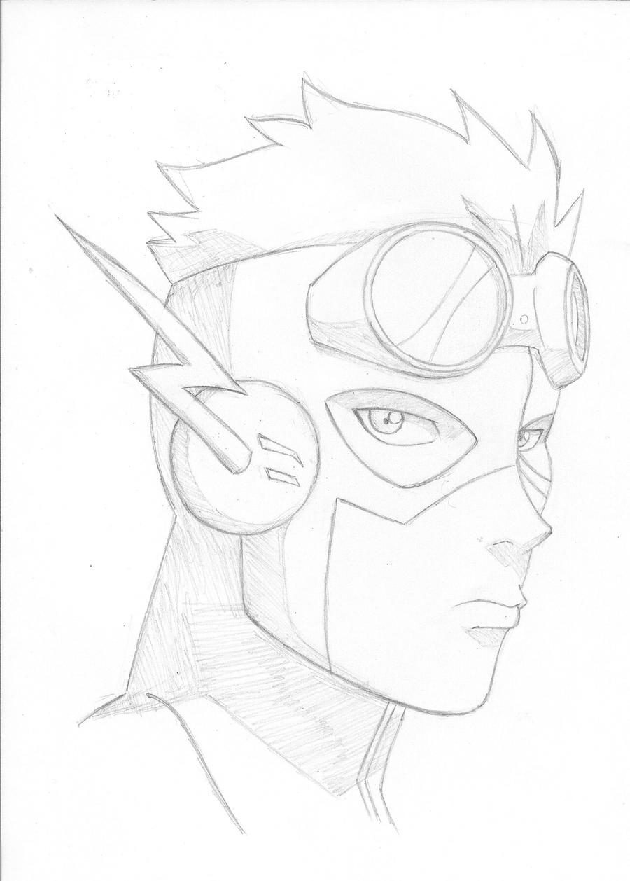 young justice kid flash by oniarisawa12