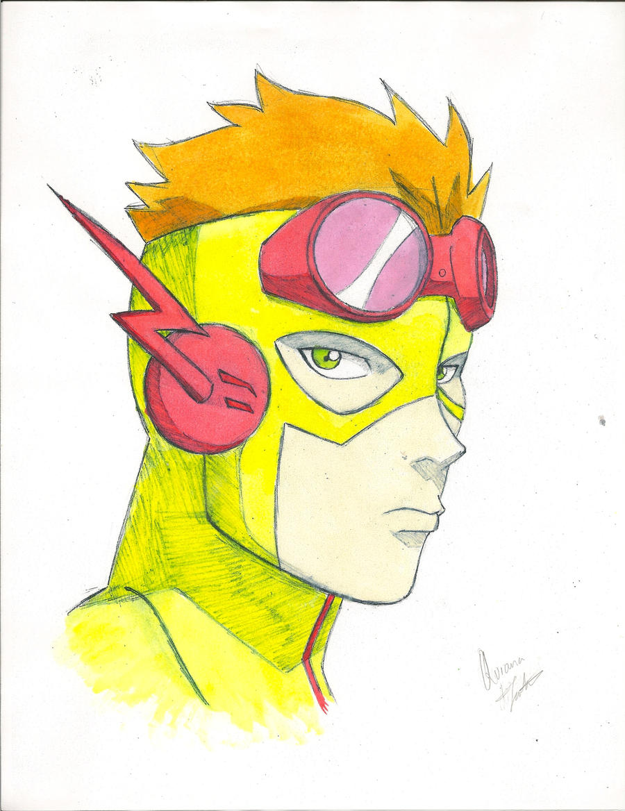 Young Justice: Kid Flash (Colored) By Oniarisawa12 On