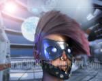 Futuristic  cyber punk  chick !!