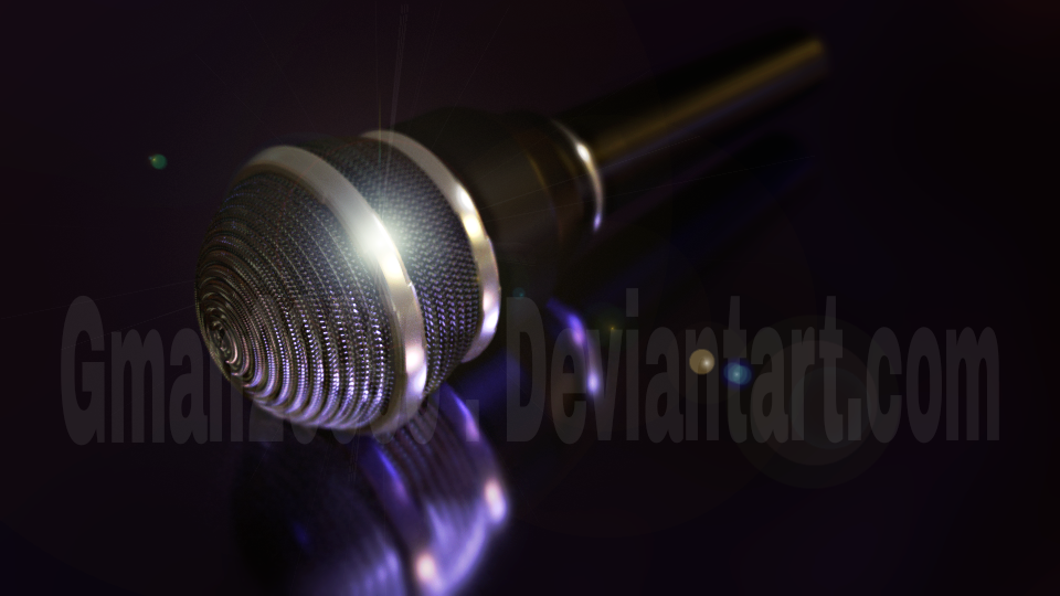 Realistic 3D  microphone model by Gman20999