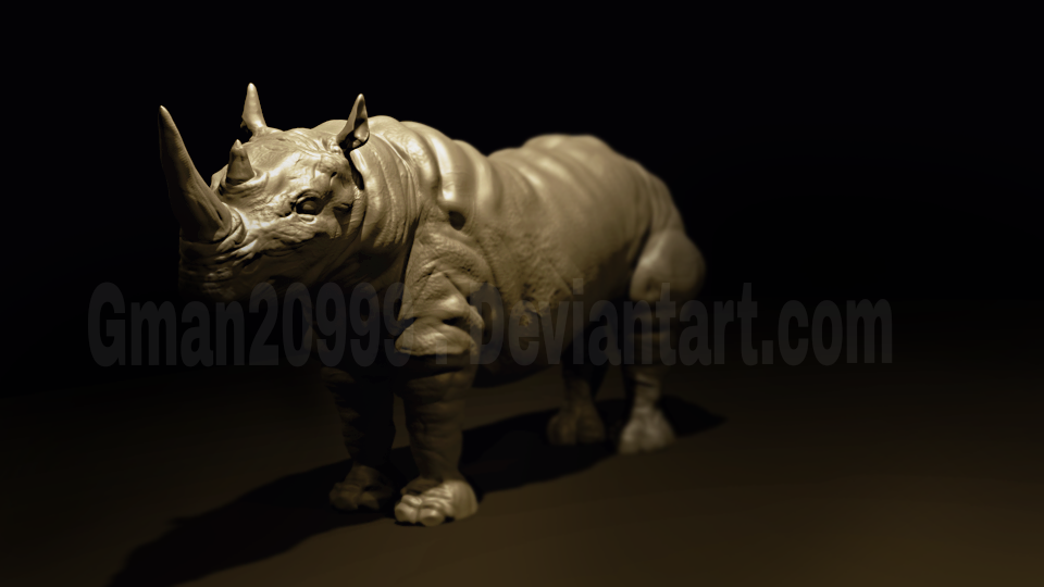 Rhino 3D model 85 by Gman20999
