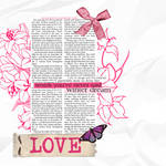pink love and style texture