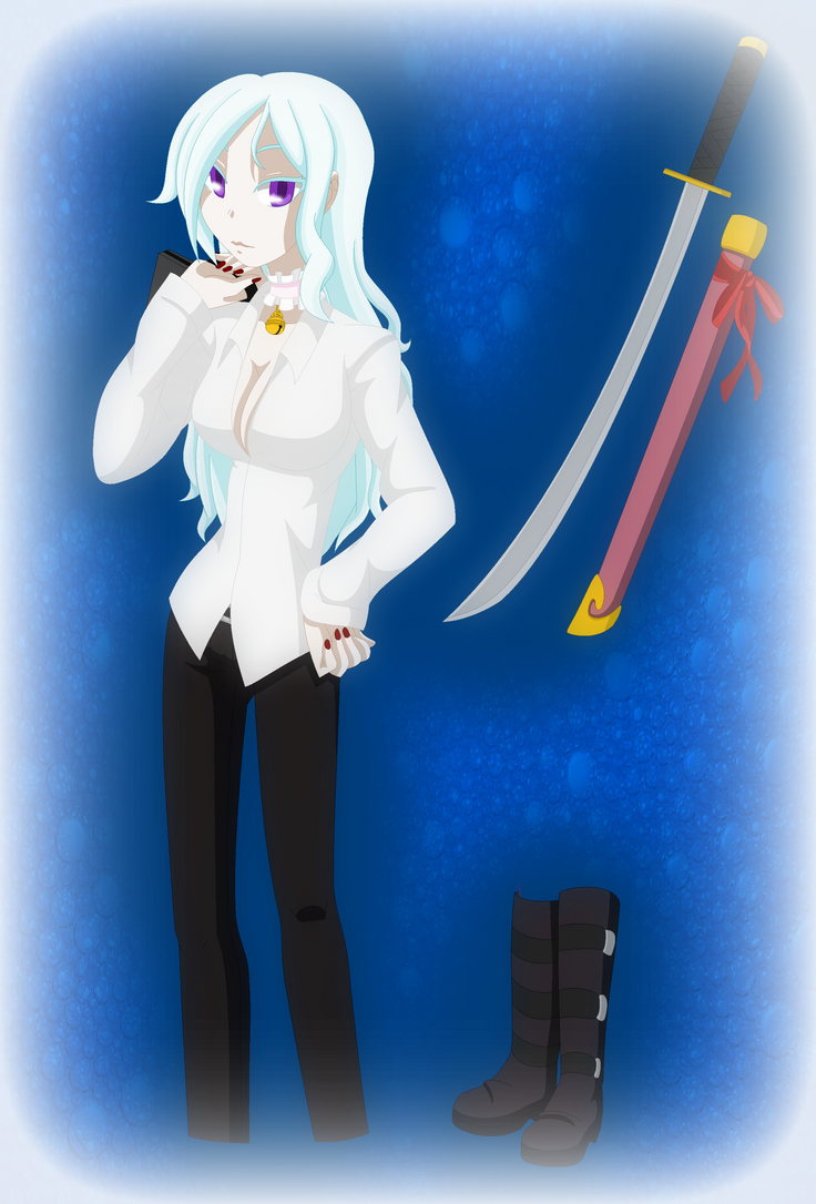 Blue Exorcist Oc- Kii (Colored) by Darkemerald4578
