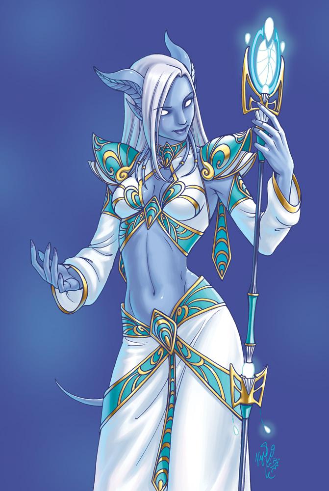 female World draenei of warcraft