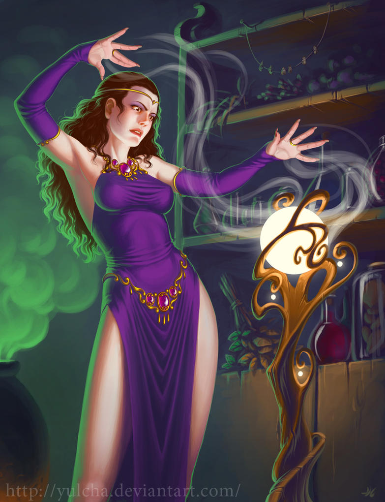 Sorceress by Yulcha on DeviantArt