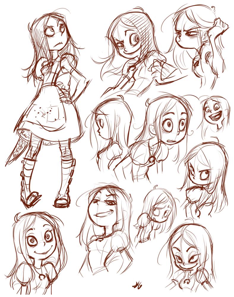 Alice sketch by Yulcha