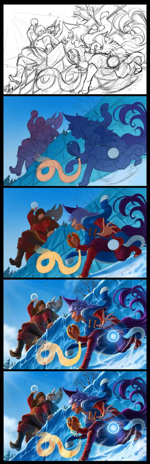 Snow games progress by Yulcha