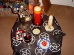 pagan alter satyr ritual
