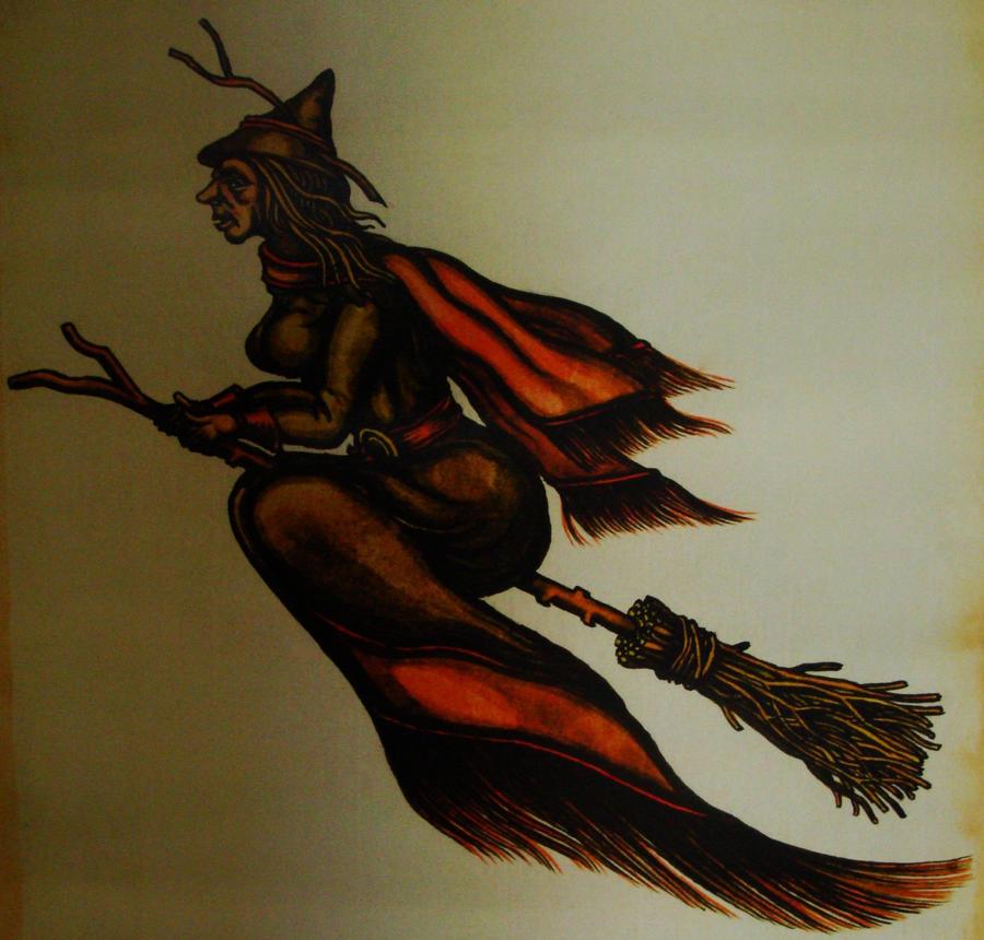 flying witch by Estruda