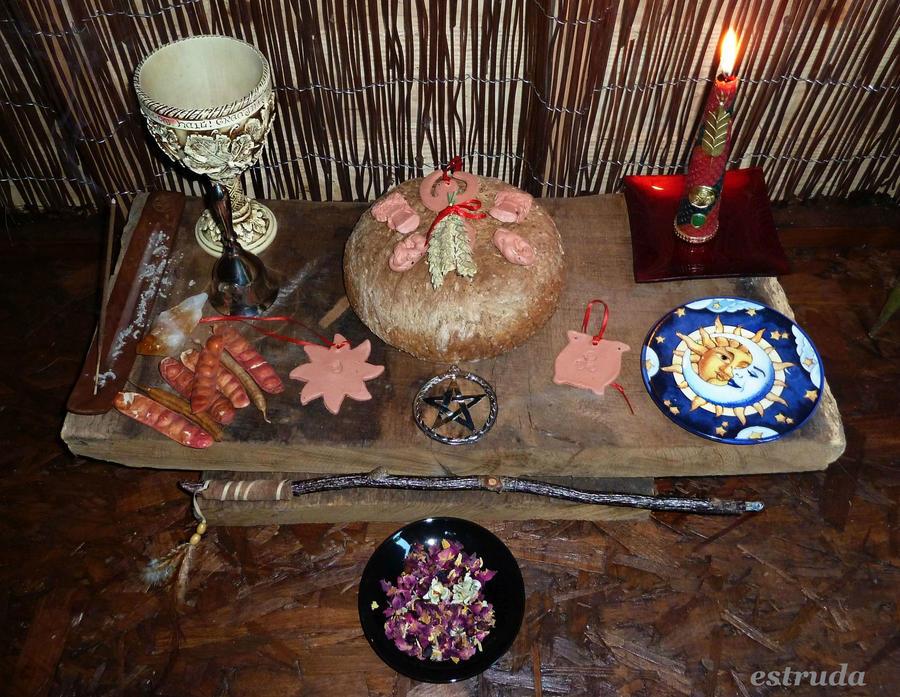 Lammas Altar by Estruda