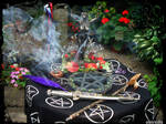 Handfasting  Pagan altar