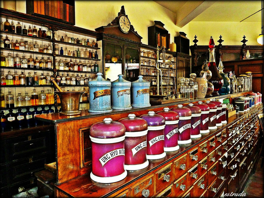 Inside The Chemist Shop by Estruda
