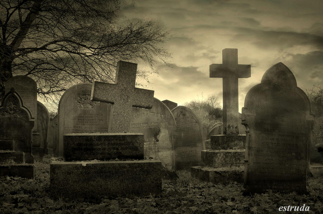 Cemetery Evening by Estruda