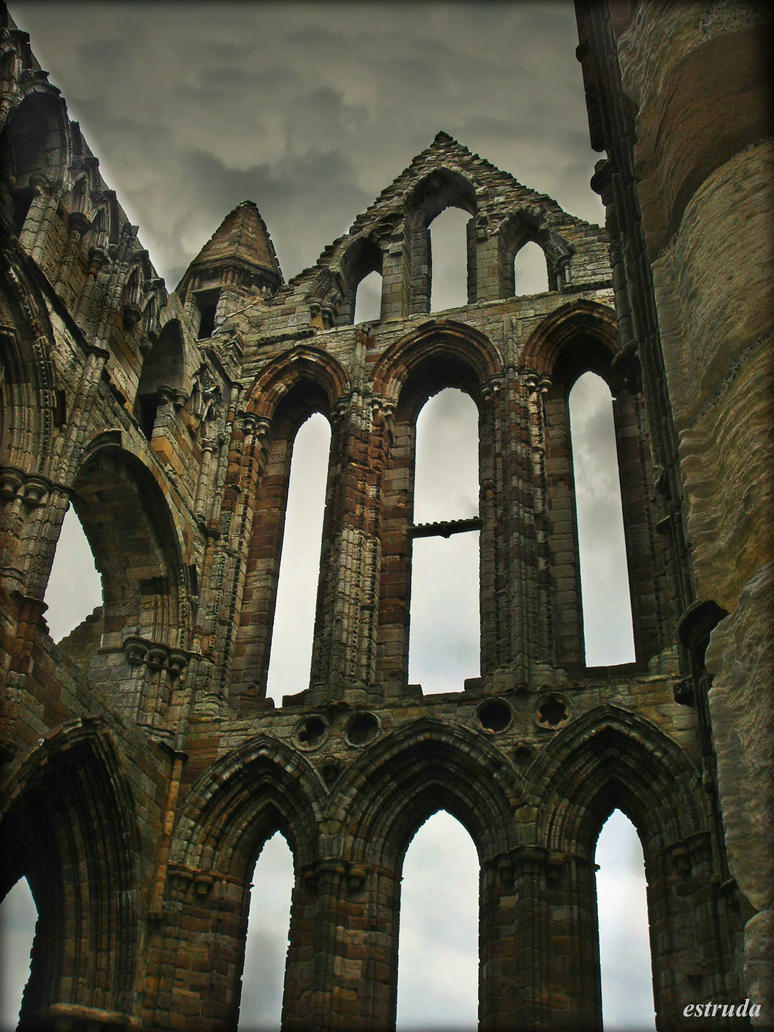 Remains Of Whitby Abbey by Estruda