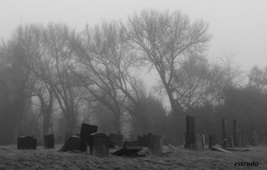 The Fog Creeps Upon The Cemetery by Estruda