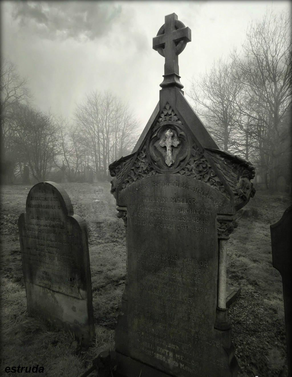 The Child Between The Tombstones by Estruda