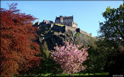 Edinburgh Castle  In Spring Time by Estruda