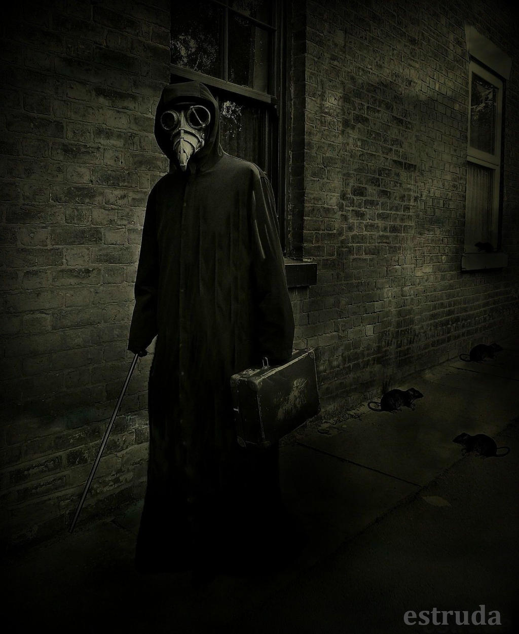 The Plague Doctor On Duty by Estruda