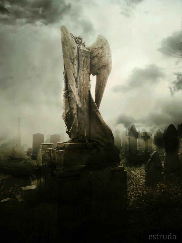 The angel looks over the lost souls by Estruda