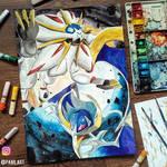 Pokemon Sun and Moon Legendaries by Pang.Art