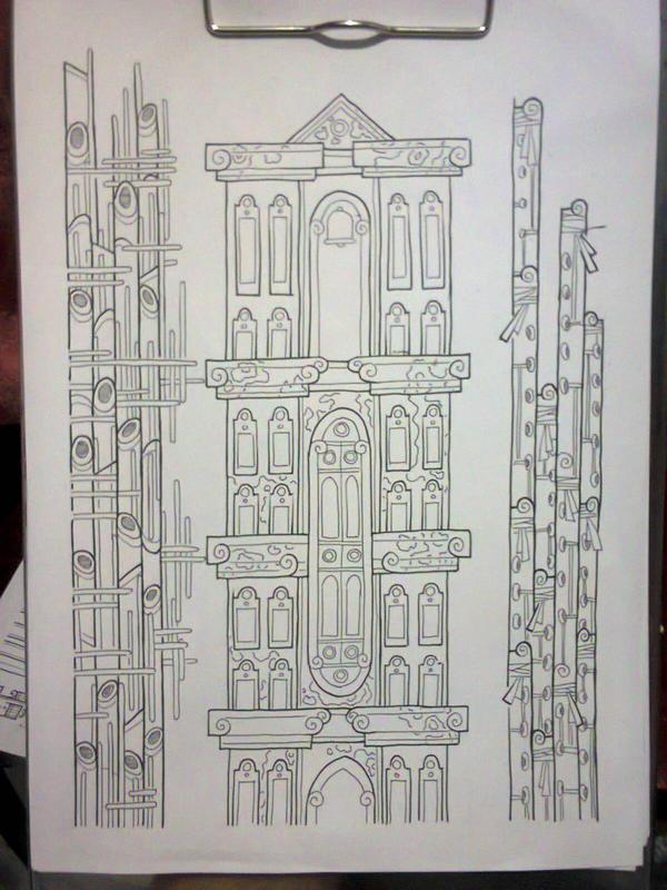 buildings sketch by fajar-rizky