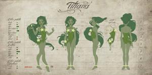 Tiliana Model Sheet