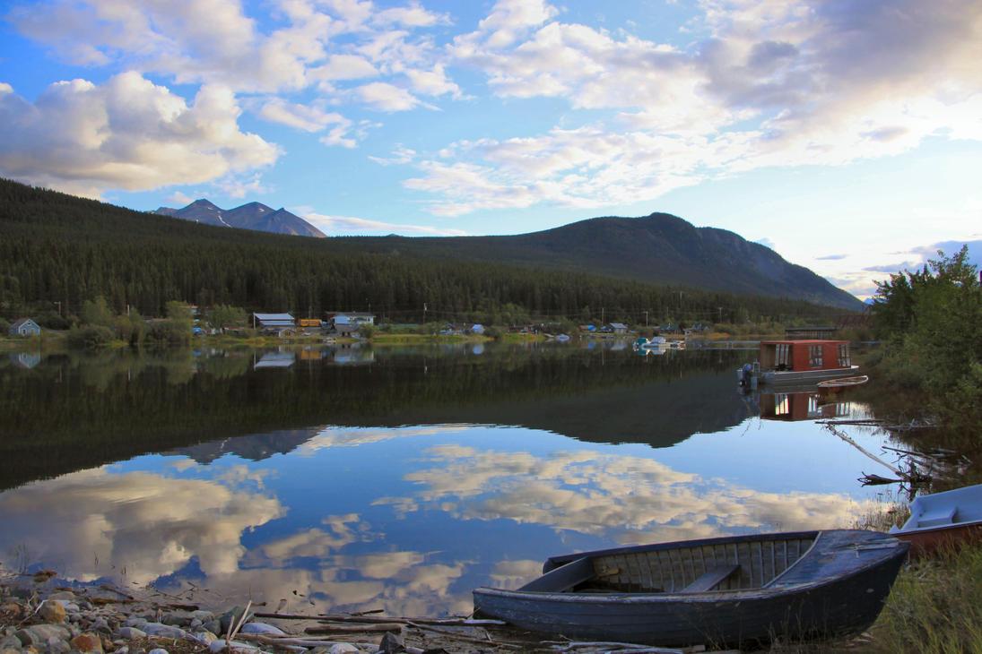 Bennett Lake from Carcross, YT by Caloxort