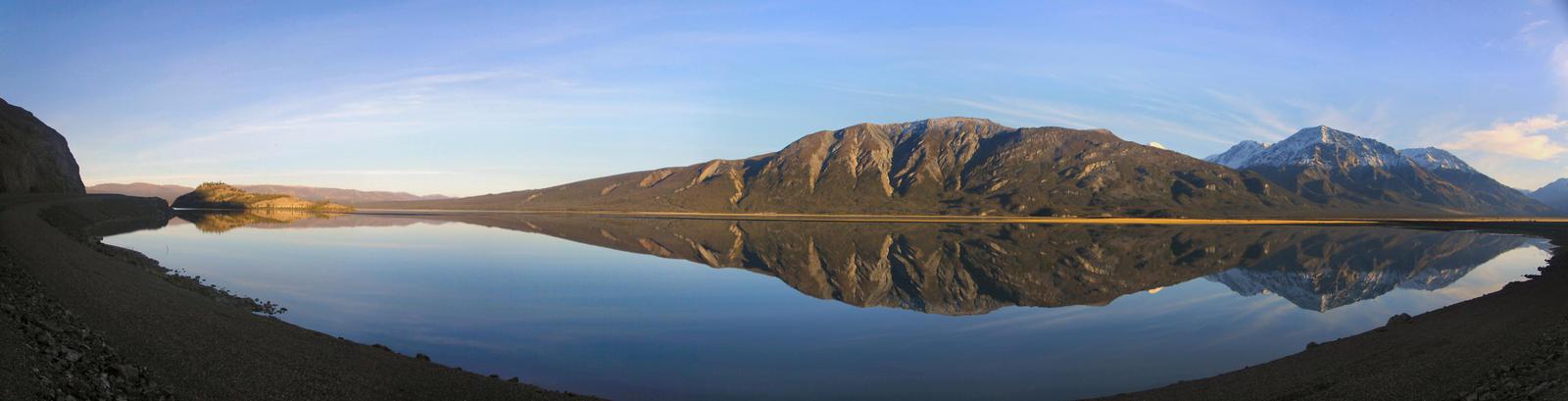 Kluane Lake Panorama by Caloxort