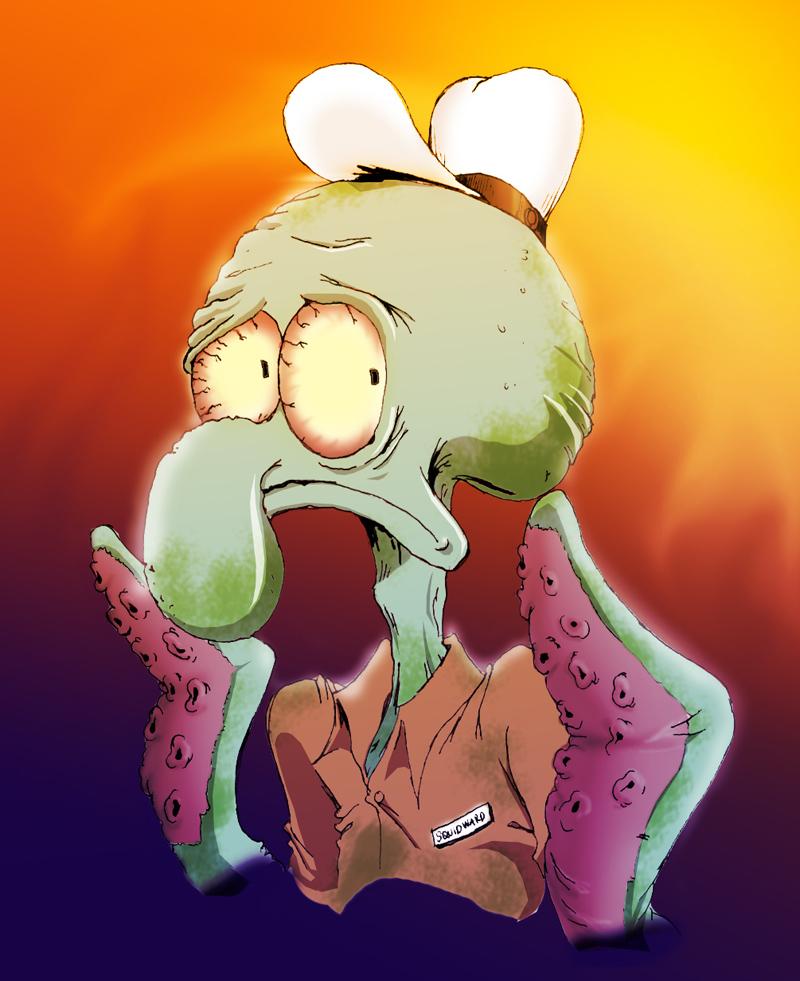 Paranoid Squidward By Asparagus88 On DeviantArt
