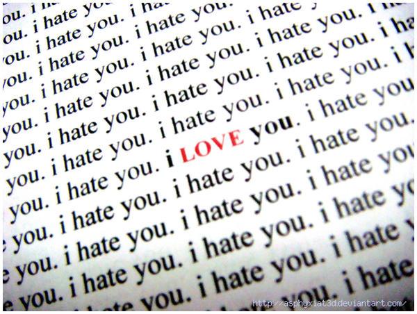 I Hate You:I Love You By Asphyxiat3d On DeviantArt